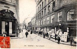 Cpa 44_NANTES - Rue Lafayette, Très Animée, Boutiques Confection Dames Et Fillettes, Trousseaux.... - Nantes