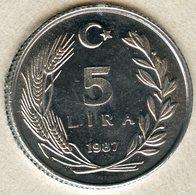 Turquie Turkey 5 Lira 1987 UNC KM 963 - Turquia