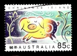 CHRISTMAS ISLAND Mi.nr.406 Jahr Des Schweines 1995 OBLITÉRÉS / USED / GESTEMPELD - Christmas Island