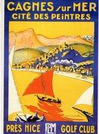 Chemin De Fer De Paris-Lyon-Mediterranée (PLM)  -  CAGNES SUR MER  - Illustrateur: Raymond Pallier - Carte Postale Promo - Autres