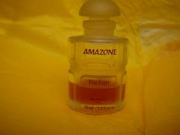 """HERMES """" AMAZONE """" MINI TOUT EN VERRE  15 ML PRESQUE  VIDE MAIS  BON ETAT  LIRE ET VOIR !! - Miniaturen Flesjes Dame (zonder Doos)"""