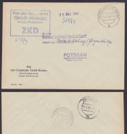 Groß Kreutz (Mark) Kreis Potsdam ZKD-Kastenstempel 1964  An Abt. Volksbildung In Potsdam Behörde - Official