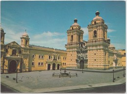 Plaza, Monastery And Church Of San Francisco, LIMA, PERU, Unused Postcard [21272] - Peru