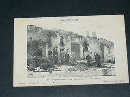LEYR  / ARDT  Nancy   1914    /   RUES   EN RUINES    ........ EDITEUR - Other Municipalities