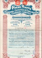 FRANK SMITH DIAMOND ESTATES & EXPLORATION COMPANY- -25  ActionS-1920 - Mijnen