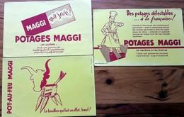 3 Buvards Anciens Différents - POT AU FEU - MAGGI -      SOPAD PARIS - AOO-RE-AA - Soups & Sauces