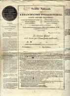 1832 1833 PRESSE SOUSCRIPTION POUR LA CREATION DU JOURNAL DES CONNSSANCES UTILES Par E.de Girardin B.E.VOIR HISTORIQUE - Documents Historiques