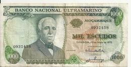 MOZAMBIQUE 1000 ESCUDOS 1972 VF P 115 - Mozambique