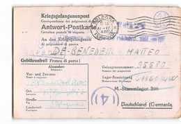 AG1800 01 RSI REPUBBLICA SOCIALE FRANCHIGIA BOLOGNA X LAGER BEZEICHNUNG 61160GW  M. STAMMLAGER 398 STALAG XVI - Storia Postale