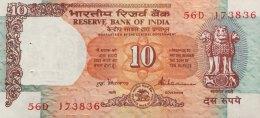 India 10 Rupees, P-88a UNC - India