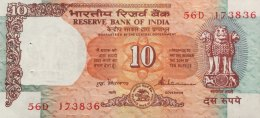 India 10 Rupees, P-88a UNC - Indien