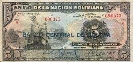 Bolivia 5 Bolivianos, P-113 (1929) VF - Bolivien