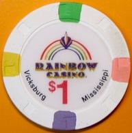 $1 Casino Chip. Rainbow, Vicksburg, MS. E01. - Casino