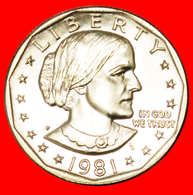 # LUNAR DOLLAR (1971-1999): USA ★ 1 DOLLAR 1981P UNC MINT LUSTER! LOW START ★ NO RESERVE! S. Anthony (1820-1906) - 1979-1999: Anthony