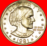 # LUNAR DOLLAR (1971-1999): USA ★ 1 DOLLAR 1981D UNC MINT LUSTER! LOW START ★ NO RESERVE! S. Anthony (1820-1906) - Federal Issues