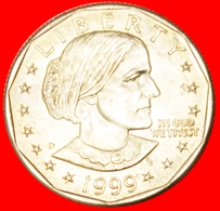 # LUNAR DOLLAR (1971-1999): USA ★ 1 DOLLAR 1999D UNC MINT LUSTER! LOW START ★ NO RESERVE! S. Anthony (1820-1906) - 1979-1999: Anthony