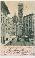 Firenze La Via De Pecori Col Campanile Di Giotto Edit Stengel Dresda 11730  Horse Tram Used 1901 - Firenze (Florence)