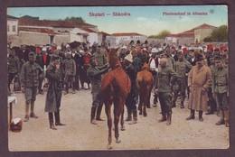 1910s Unused Scutari Shkoder Albania Postcard Showing Shkodra Skutari Horse Purchase Pferdeankauf In Albanien - Albania