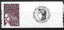 France 2004 Timbre Adhésif Neuf** Avec Vignette N° 3729C Cote 8 Euros - France