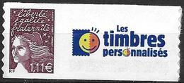 France 2004 Timbre Adhésif Neuf** Avec Vignette N° 3729C Cote 8 Euros - Personalisiert