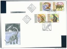 FDC 4586 Bulgaria 2003 / 5, Fauna: Prehistoric Animals Prahistorische Tiere Pterodactylus Gorgosaurus Mesosaurus - FDC