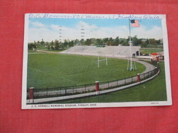 Football  J.C. Donnell Memorial Stadium Findlay Ohio  Ref 2981 - Postcards