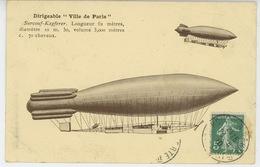 """AVIATION - Le DIRIGEABLE """" VILLE DE PARIS """" - Airships"""