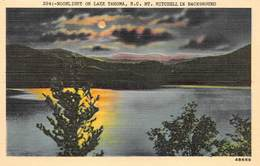 ETATS UNIS   NORTH CAROLINA  MOONLIGHT ON LAKE TAHOMA,MONT MITCHELL IN BACKGROUND - Etats-Unis