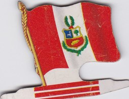 Figurine Publicitaire Biscuits L'Alsacienne Petit-Exquis - Drapeau - Pérou - Années 60/70 - Tôle - Americorama - Publicidad