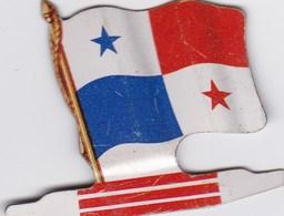 Figurine Publicitaire Biscuits L'Alsacienne Petit-Exquis - Drapeau - Panama - Années 60/70 - Tôle - Americorama - Reklame
