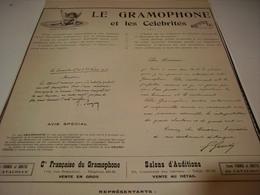 ANCIENNE PUBLICITE  GRAMOPHONE ET LES CELEBRITES   1904 - Other