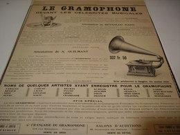 ANCIENNE PUBLICITE  LES GRAMOPHONES  DEVANT  LES CELEBRITES   1904 - Other