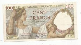 Billet , Cent Francs, 100 , 31-7-1941 , SULLY , 2 Scans , Frais Fr 1.45 E - 1871-1952 Gedurende De XXste In Omloop