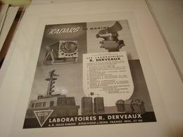 ANCIENNE PUBLICITE RADARDS DE MARINE DES LABORATOIRE DERVEAUX 1955 - Other