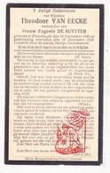 DP Theodoor Van Eecke ° Elverdinge Ieper 1846 † 1925 X Eug. De Ruytter - Images Religieuses