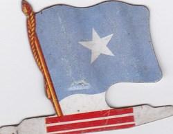 Figurine Publicitaire Biscuits L'Alsacienne Petit-Exquis - Drapeau - Somalie - Années 60/70 - Tôle - Africorama - Publicidad