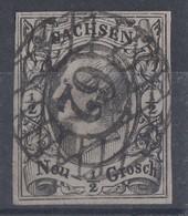Sachsen Minr.8 Gest. Nr.-St. 62 Burgstädt - Sachsen
