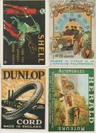CP - Publicité - Automobiles  & Annexes- Repro - LOT 4 Pc - - Advertising