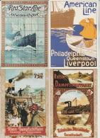 CP - Publicité - Bateaux - Marine - Voyage - Mer - Repro - LOT 6 Pc - - Advertising