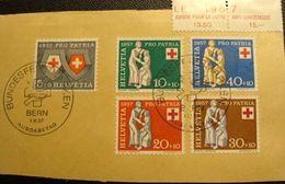 """Schweiz Suisse 1957: PP 1957 Rotkreuz """"Charité"""" Zu 81-85 Mi 641-5 Yv 590-4 O BERN 1.VI.57 AUSGABETAG (Zu CHF 12.00 ++) - Pro Patria"""