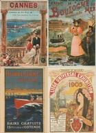 CP - Publicité - Chemin De Fer - Villes - Exposition  -  Repro D'affiche - LOT 7 Pc - - Advertising