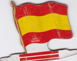 Figurine Publicitaire Biscuits L'Alsacienne Petit-Exquis - Drapeau - Rio De Oro - Années 60/70 - Tôle - Africorama - Publicidad