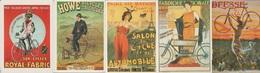 CP - Publicité - Cycles - Vélo - Petite Reine  - Bicycles - Repro D'Affiches - LOT 5 Pc - - Advertising