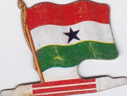 Figurine Publicitaire Biscuits L'Alsacienne Petit-Exquis - Drapeau - Ghana - Années 60/70 - Tôle - Africorama - Reklame