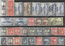 7Rr-774:restje Van 32 Zegels: Diverse Dubbele.... Om Verder Uit Te Zoeken.. - Pakistan