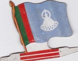 Figurine Publicitaire Biscuits L'Alsacienne Petit-Exquis - Drapeau - Lesotho - Années 60/70 - Tôle - Africorama - Publicidad