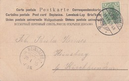DR Karte Ankunftsst. KOS Heinsberg (Westfalen) 20.1.05 - Briefe U. Dokumente