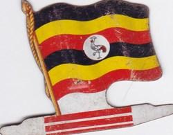 Figurine Publicitaire Biscuits L'Alsacienne Petit-Exquis - Drapeau - Ouganda - Années 60/70 - Tôle - Africorama - Publicidad