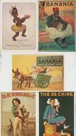 CP - Publicité - Boissons Chaude - Chocolat - Café - Thé -  Repro D'Affiches - LOT 5 Pc - - Advertising
