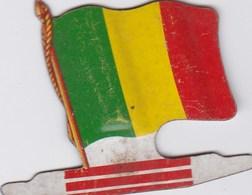 Figurine Publicitaire Biscuits L'Alsacienne Petit-Exquis - Drapeau - Mali - Années 60/70 - Tôle - Africorama - Reklame